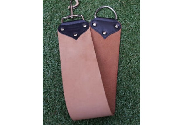 High Quality Leather Strop by Windrose Extra Wide Straight Razor  + Mount